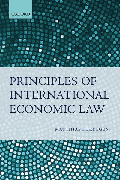 Principles of International Economic Law Pdf Book