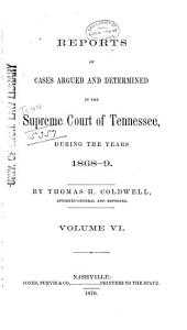 Reports of Cases Argued and Determined in the Supreme Court of Tennessee PDF