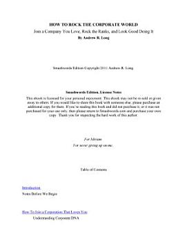 How To Rock The Corporate World  Join a Company You Love  Rock the Ranks  and Look Good doing It PDF