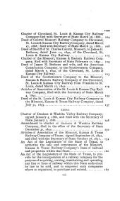Missouri, Kansas & Texas Railway System: Charters and Muniments of Title