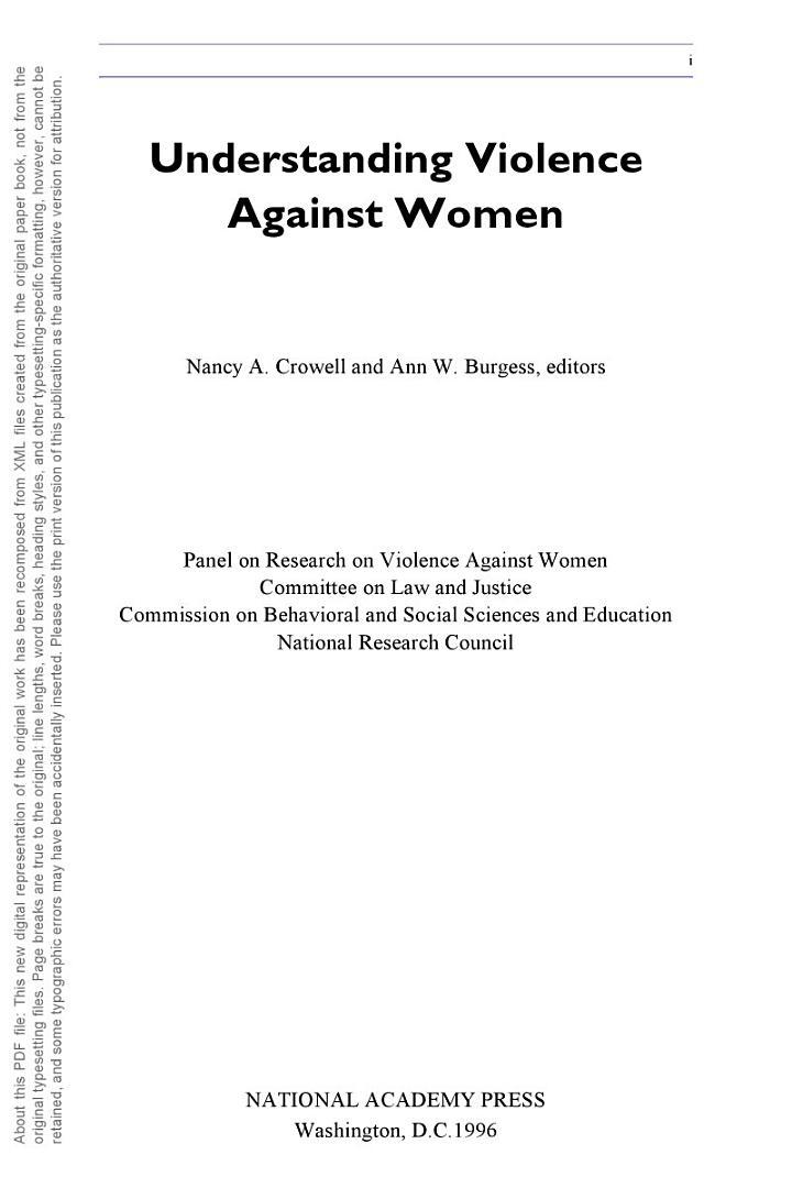 Understanding Violence Against Women
