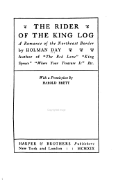 The Rider of the King Log: A Romance of the Northeast Border