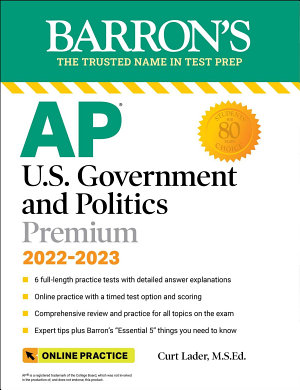 AP US Government and Politics Premium  With 6 Practice Tests