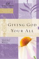 Giving God Your All PDF