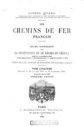 Les chemins de fer français: Période du 19 juillet 1879 au 20 novembre 1883. Conventions de 1883 (première partie)