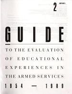 Guide to the Evaluation of Educational Experiences in the Armed Services  1954 1989 PDF