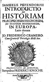 Introductio ad Historiam praecipuorum Regnorum et Statuum modernorum in Europa