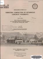 Vibratory Compaction of Bituminous Concrete Pavements PDF
