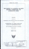 The Project on National Security Reform PDF