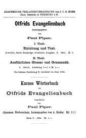 Otfrids Evangelienbuch: Bände 1-2