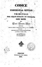 Codice di procedura civile pei tribunali del Gran-Ducato di Toscana