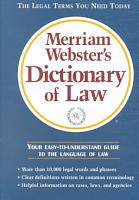Merriam Webster s Dictionary of Law PDF