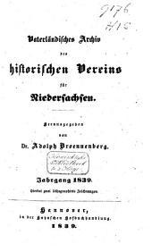 Vaterländisches Archiv des Historischen Vereins für Niedersachsen: Band 5