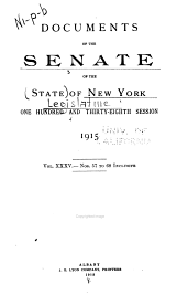 Documents of the Senate of the State of New York: Volume 35