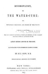 Hydrotherapy, or, The water-cure