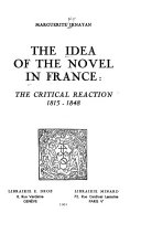 Download The Idea of the Novel in France Book