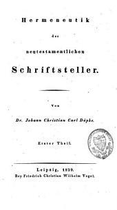Hermeneutik der neutestamentlichen Schriftsteller