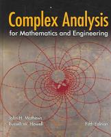 Complex Analysis for Mathematics and Engineering PDF