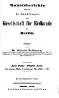 Monatsberichte   ber die Verhandlungen der Gesellschaft f  r Erdkunde zu Berlin PDF