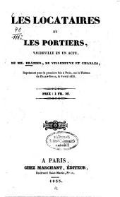 Les locataires et les portiers: Vaudeville en un acte