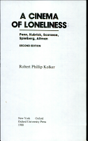 A Cinema of Loneliness PDF