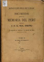 Documentos anexos á la Memoria del Perú: Volumen 2