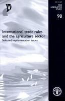International Trade Rules and the Agriculture Sector PDF