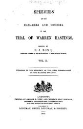 Speeches of the managers and counsel in the trial of Warren Hastings: Volume 2