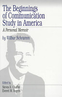 The Beginnings of Communication Study in America PDF