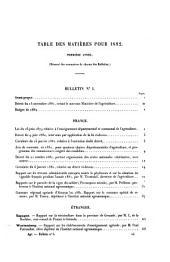 Bulletin. Documents officiels, Statistique, Rapports, Comptes rendus de missions en france et à l'étranger: Volume1