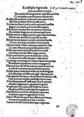 Rodolphi Agricolae Anna mater incipit