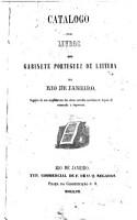 Catalogo dos livros do Gabinete portuguez de leitura no Rio de Janeiro PDF