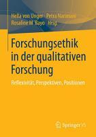Forschungsethik in der qualitativen Forschung PDF