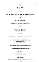 The Law of Pleading and Evidence in Civil Actions