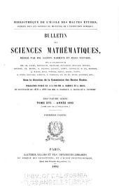 Bulletin des sciences mathématiques