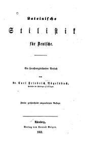 Lateinische Stilistik für Deutsche: ein sprachvergleichender Versuch