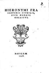 Hieronymi Fracastorii Syphilis sive morbus gallicus
