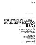 Excavations Near Zuni  New Mexico PDF
