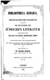 Bibliotheca judaica: bibliographisches Handbuch der gesammten jüdischen Literatur, Band 3