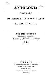 Antologia; giornale di scienze, lettere e arti: Volume 45