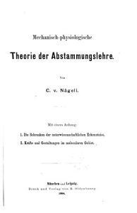 Mechanisch physiologische Theorie der Abstammungslehre PDF