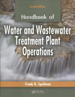 Handbook of Water and Wastewater Treatment Plant Operations  Second Edition PDF