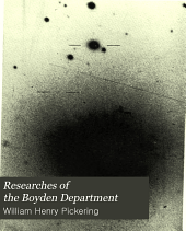 Researches of the Boyden Department: Volume 61