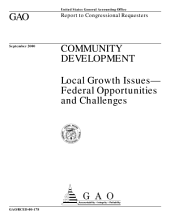 Community development local growth issuesfederal opportunities and challenges   report to congressional requesters  PDF