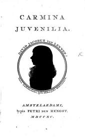 Carmina Juvenilia. [With an introduction by R. van Ommeren.]