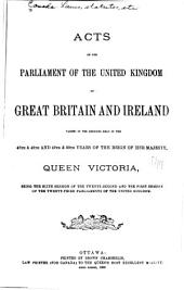 Acts of the Parliament of the Dominion of Canada: Volume 1