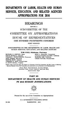Departments of Labor  Health and Human Services  Education  and Related Agencies Appropriations for 2016 PDF