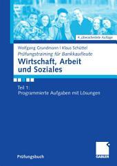 Wirtschaft, Arbeit und Soziales: Teil 1: Programmierte Aufgaben mit Lösungen, Ausgabe 4
