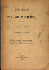Studi italiani di filologia indo-iranica: Volume 1;Volume 5