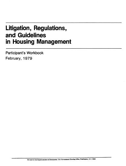 Litigation  regulations  and guidelines in housing management PDF